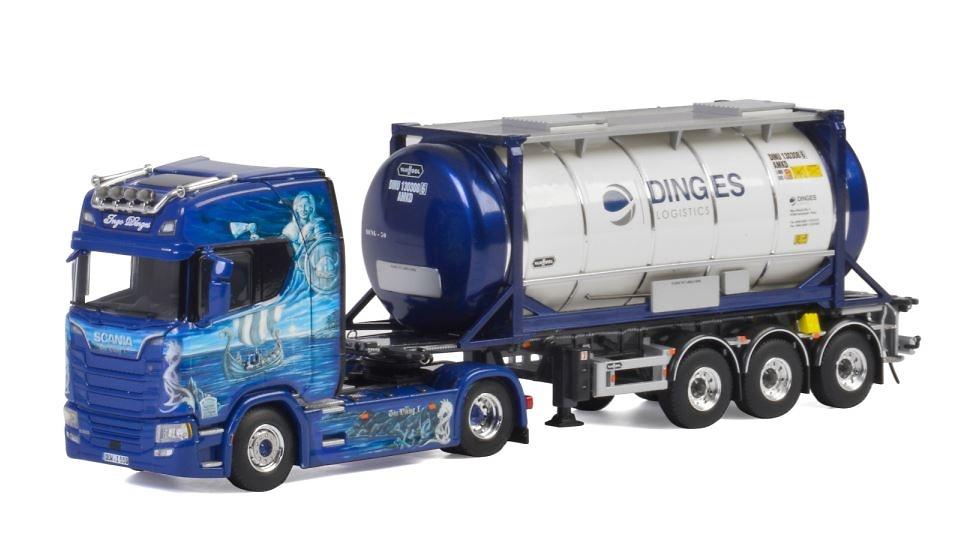 Scania S Highline CS20H +cisterna Ingo Dinges Wsi Models escala 1/50