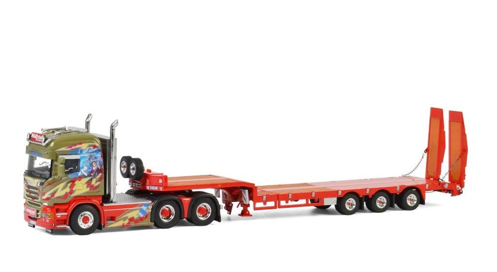 Scania Streamline Highline + cama baja con rampas Midstol Wsi Model 2630