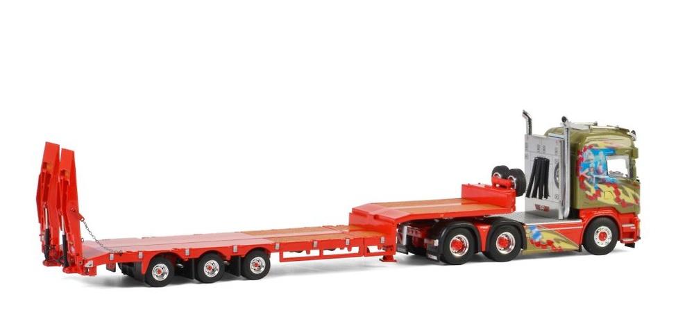 Scania Streamline Highline + cama baja con rampas Midstol Wsi Model 2563