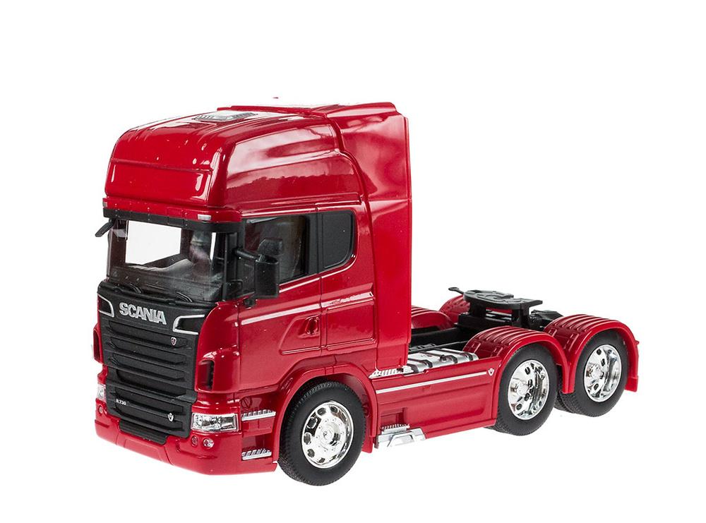 Scania V8 R730 6x2 - rojo - Welly 32670 escala 1/32