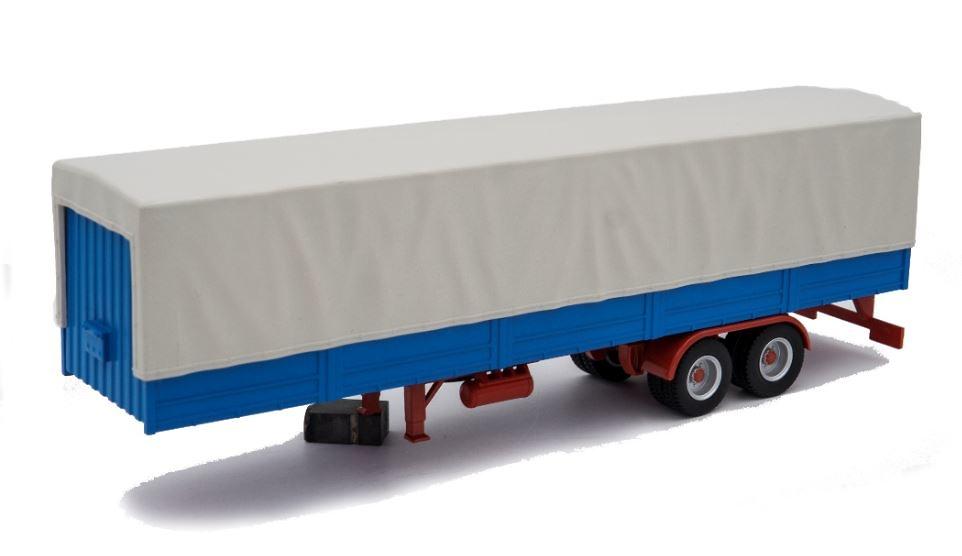 Semi remolque plataforma con lona - Ixo Models 1/43