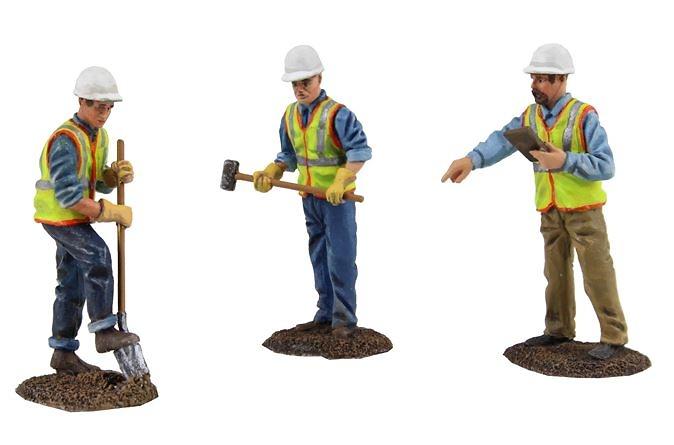 Set 3 figuras metalicas obreros First Gear 0481 escala 1/50