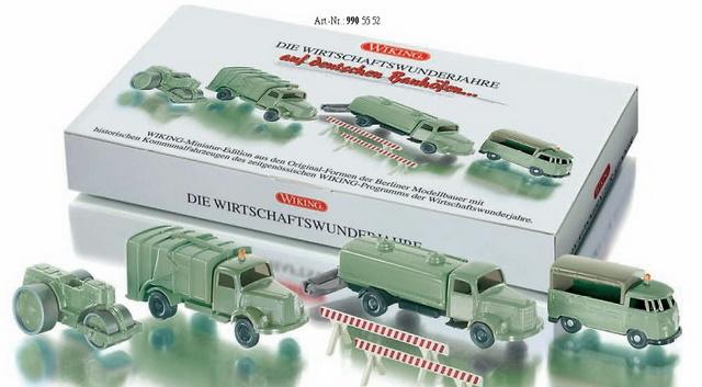 Set Vehículos Obra, Epoca años 50-60, Wiking 9905552 escala 1/87