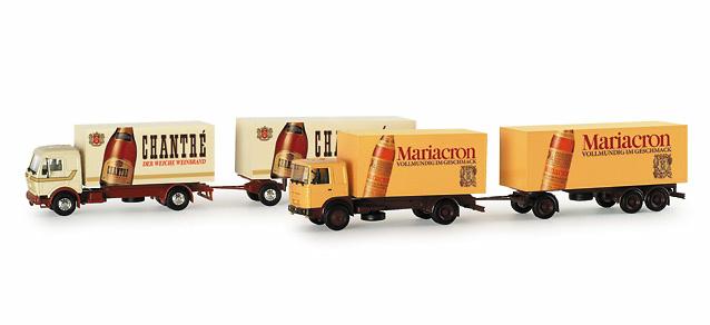 Set de 2 camiones Chantre Mariacron Herpa 153836 escala 1/87