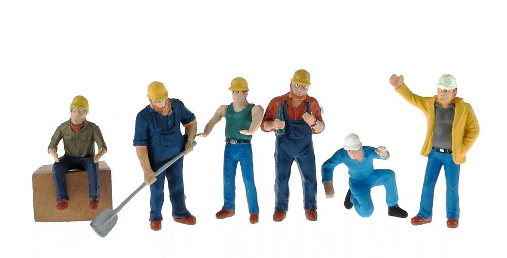 Set de figuras obreros serios, Conrad Modelle 99801