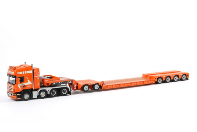 TAGE NIELSEN Nooteboom 4-axle + ID 2-axle + Scania R 8x4 Wsi Models 523.28.04 escala 1/50