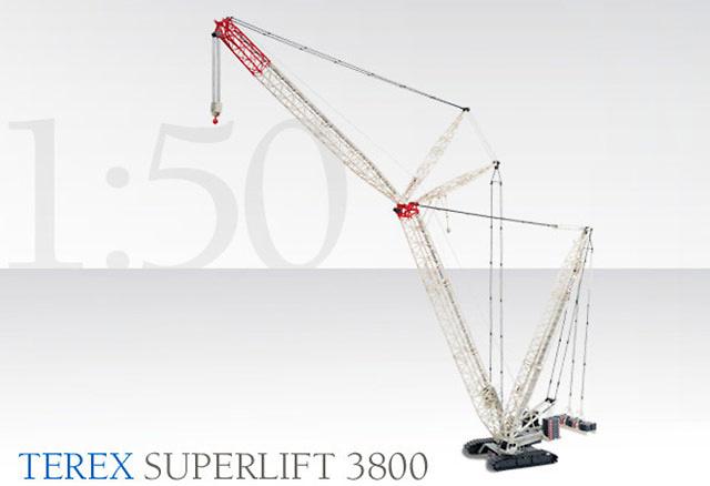 Terex Superlift 3800 grua sobre orugas Conrad 2744 escala 1/50