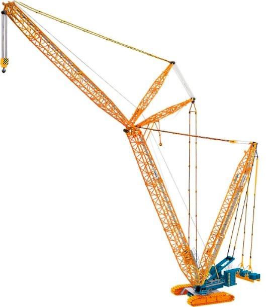 Terex Superlift 3800 grua sobre orugas Sarens Conrad 2744-07 escala 1/50