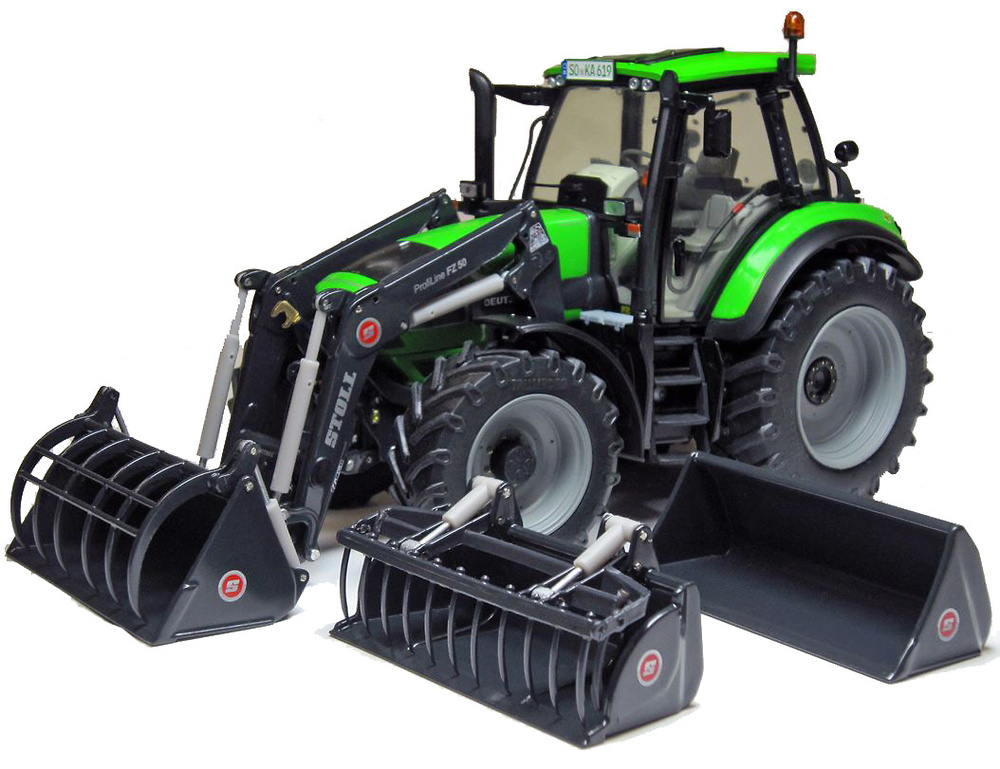 Tractor Deutz Agrotron 6190 C con accesorios Weise Toys 1045 escala 1/32