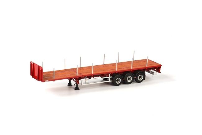 Trailer plataforma 3 ejes Wsi Models 04-1137 escala 1/50