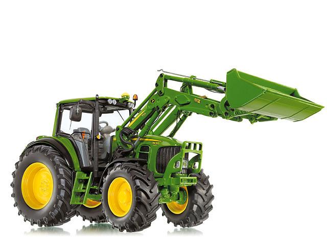 traktor john deere 7430 mit frontlader wiking 7309 maß