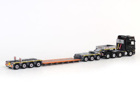 Van Lommel EURO-PX 3+4 + Scania 8x4 nooteboom, Wsi Models 1490 escala 1/50