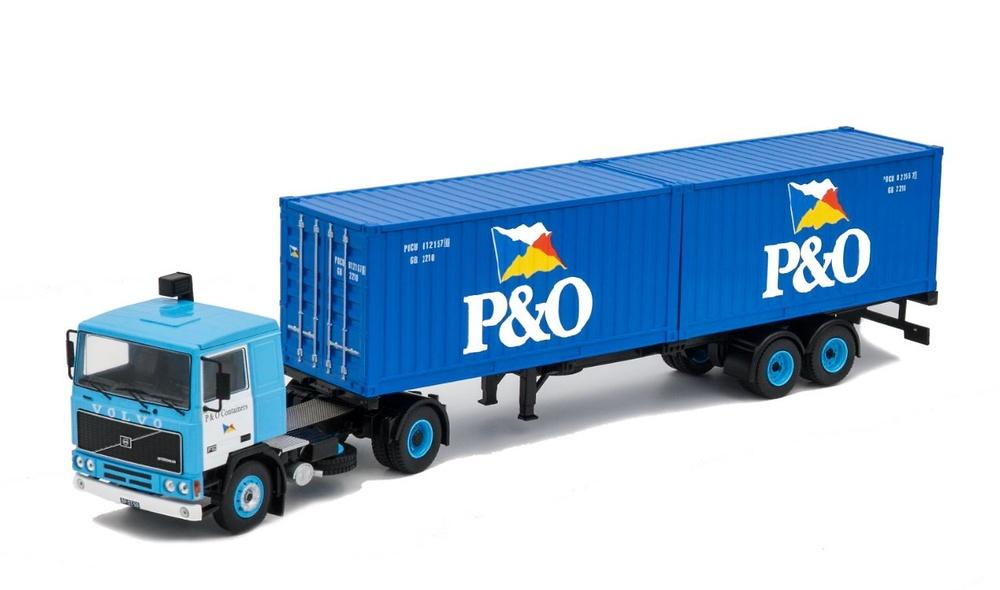 Volvo F10 + Contenedores P&O - Ixo Models 1/43