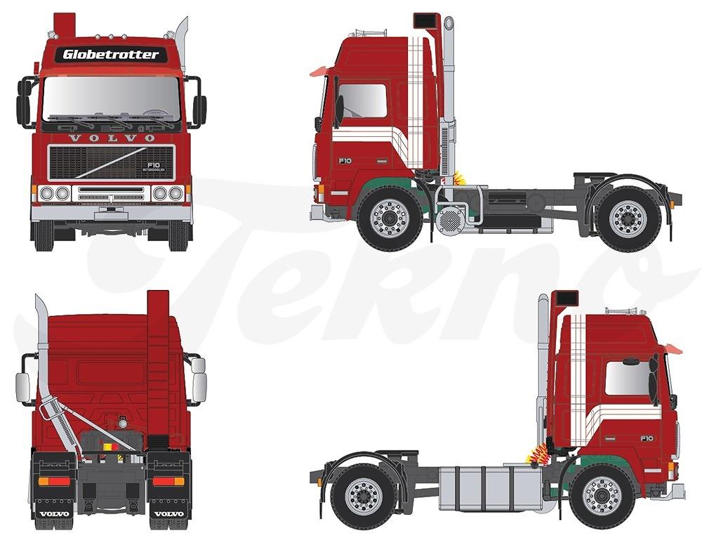 Volvo F10 Globetrotter 4x2 Tekno 69461 escala 1/50