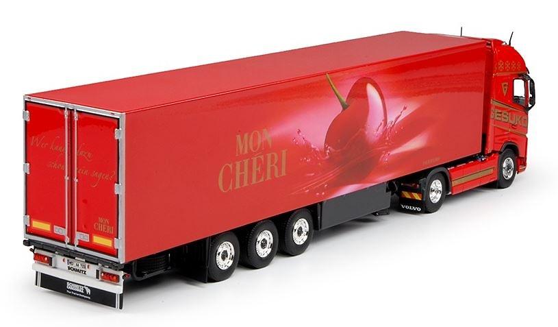 Volvo FH04 Globetrotter + frigo Mon Cheri Tekno 69467 escala 1/50