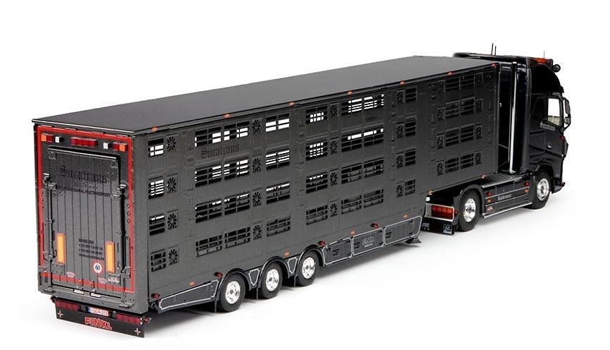 Volvo FH04 Globetrotter XL + transporte ganado Sucatrans Tekno 64838 escala 1/50