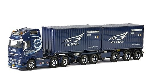 Volvo FH4 GL XL 2 Connect Combi Trailer 2+3 as + 2x20 FT contenedor Wsi Models