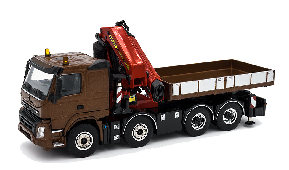 Volvo Fmx Sleeper + Palfinger 92002 SH, Wsi Models 02-2217 escala 1/50