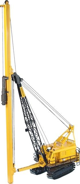 Weserhuette W180 con martillo para hundir vigas en la tierra, NZG 596 escala 1/50