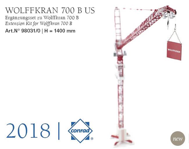 Wolffkran 700 B extension, Conrad Modelle escala 1/87