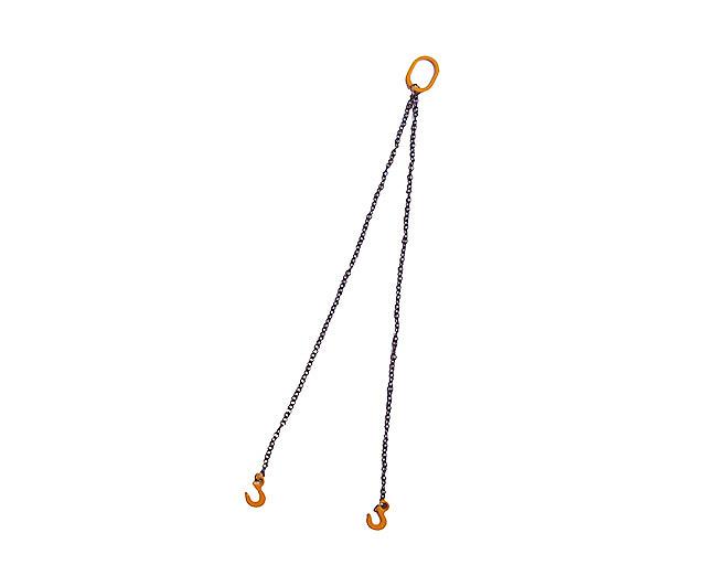 YC303-y - dos cadenas con gancho 6 cm - amarillo Ycc Models escala 1/50