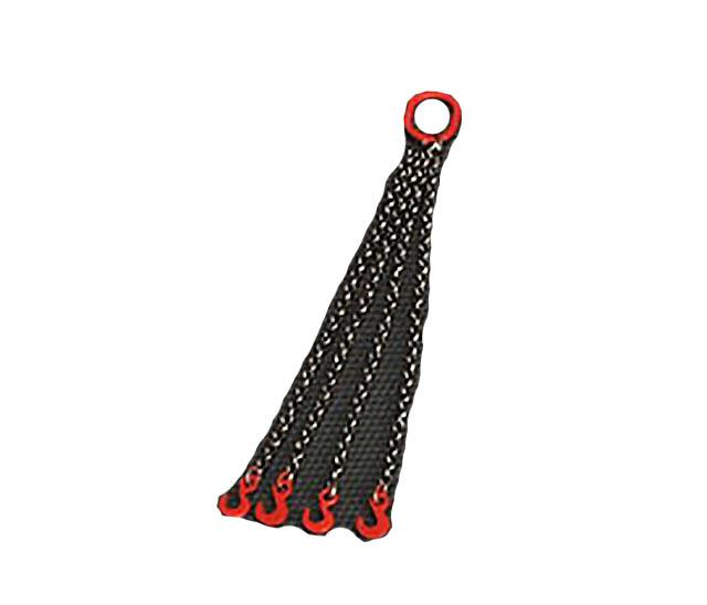 YC304-R cuatro cadenas con gancho 6 cm - rojo Ycc Models escala 1/50