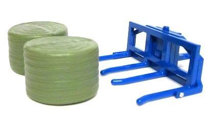 accesorio para tractor para cargar balas de heno Britains 43141