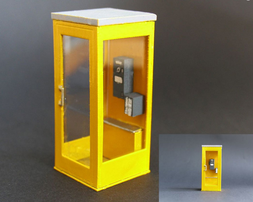 cabina de telefono Zapf-Modell 5007004 escala 1/50