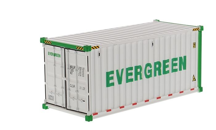 contenedor maritimo 20 pies - Evergreen - Diecast Masters 91026a
