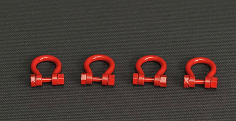 grilletes 300 t set 4 ud rojo, Ycc Models yc637-1 escala 1/50