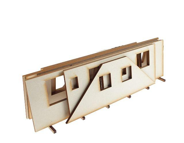 piezas de una casa prefabricada en soporte, Zapf 1/50