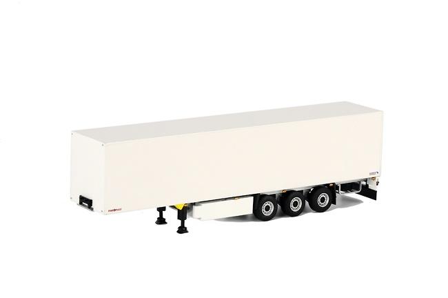 caja cerrada blanca 3 ejes Schmitz Cargobull, Wsi Models 1072 escala 1/50