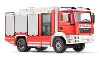 """Camion Bomberos - Rosenbauer """"AT"""" montado en MAN TGM, Wiking 7331"""