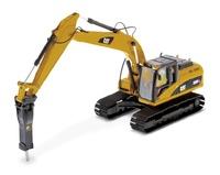 Cat 320D L Bagger + Hammer Diecast Masters 85280 Masstab 1/50