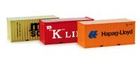 "Container-Set 3x20 ft. ""Hapag Lloyd / MSC / K-Line"", Herpa 076432"