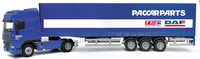 Daf XF cabina alta 4x2 + trailer 3 ejes, Joal 366 escala 1/50
