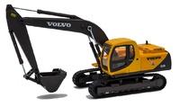 Excavadora Volvo EC210- Cararama 560 escala 1/50