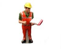 Figura con casco inspeccionando Agri Collectables ADF 32142 escala 1/32
