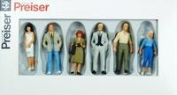 Figuras gente de pie 6 u. Preiser 68210 escala 1/50