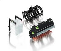 Frontlader Werkzeuge Set B schwarz Wiking 7386 Masstab 1/32