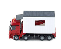 Garagentransporter Mercedes Actros Siku 3544 Masstab 1/50