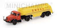Henschel HS 140 S, Tanksattelzug Werbung Shell Minichamps 499 171970 Masstab 1/43