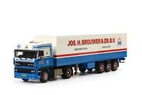 Jos H Brouwer  DAF 2800 Space Cab caja cerrada Wsi Models 06-1039 escala 1/50