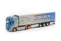 Konzack Scania R Topline tautliner Trailer (3 axle) Wsi Models 01-1222 escala 1/50