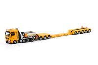 Liebherr gelb Nooteboom 3+5 EURO-PX + ICP Interdolly + MAN 8x6 truck Wsi Models 1/50