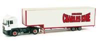 "MAN F 2000 Evo trailer formato jumbo ""cirrcus Charles Knie"", Herpa 1/87"