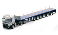 MB Actros SLT 3-achs Goldhofer transporte pesado 6-achs Conrad Modelle 72155 escala 1/50