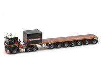 MB Arocs Streamspace 6x4 + 7 ejes ballast trailer Mammoet Imc Models 1/50