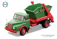 Man Hak Hauber 2-ejes + contenedor Conrad Modelle 1047