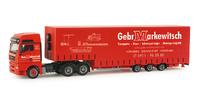 Man TGA XXL trailer gran volumen Markewitsch Herpa 155595 escala 1/87